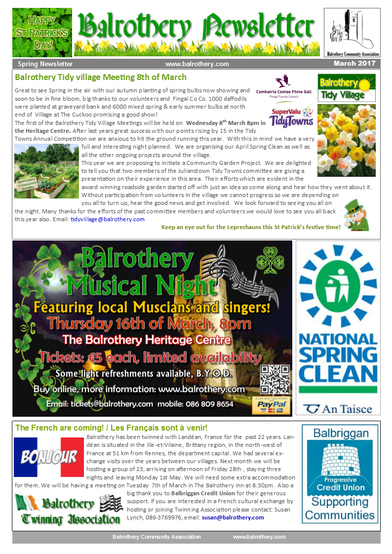Spring Newsletter March 2017 page1